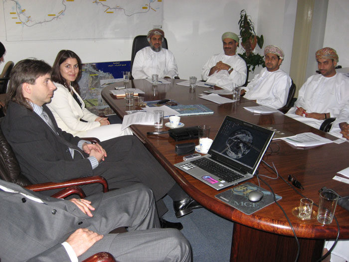 Business talks at the Muscat Municipality, Oman